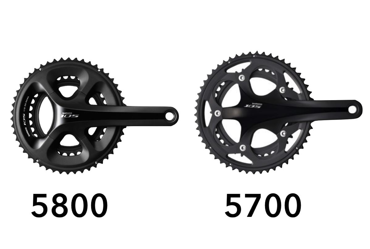 105 crank 5700vs5800