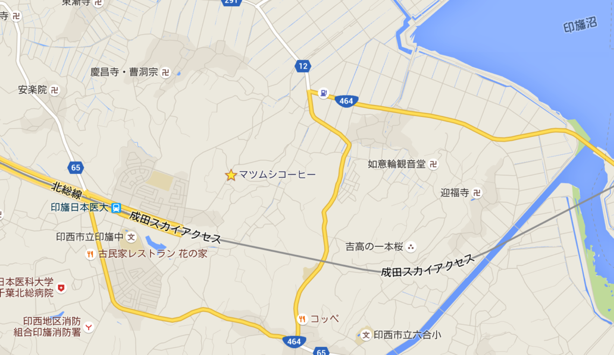 Map of mazmushi coffee