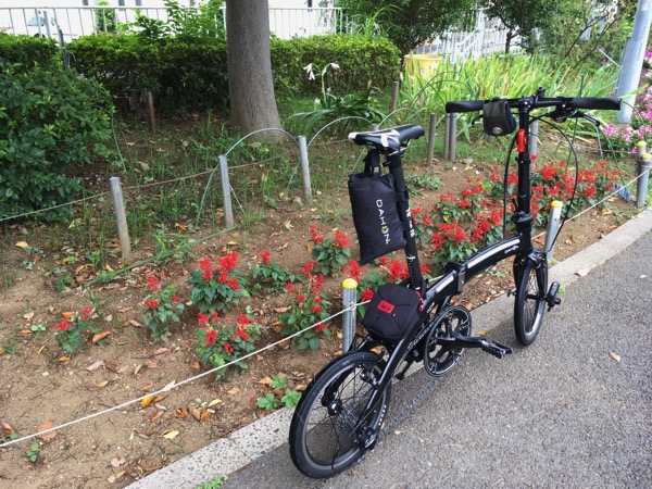 折りたたみ自転車DAHON Curve D7でちょっと工夫をしてバッグを装着した話