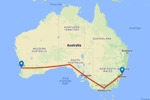 Fremantle to sydney