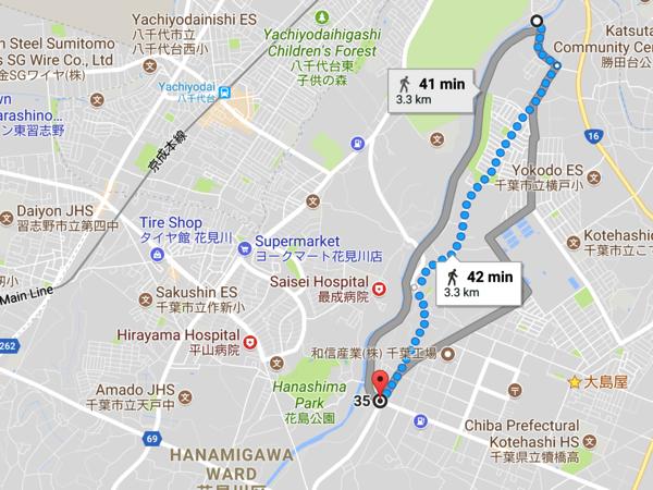 Hanamigawa bypass route