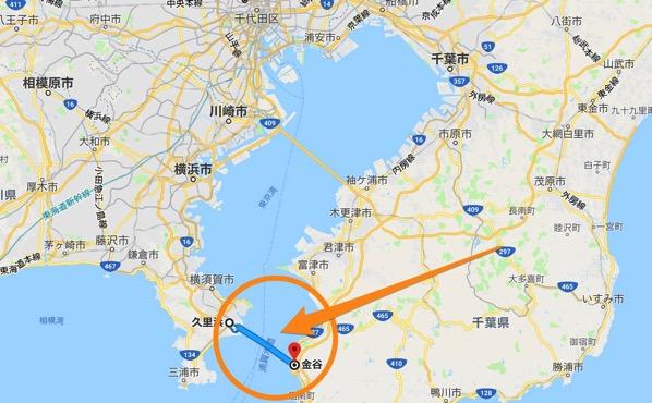 Kurihama kanaya ferry route