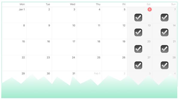 Calendar for bbbase